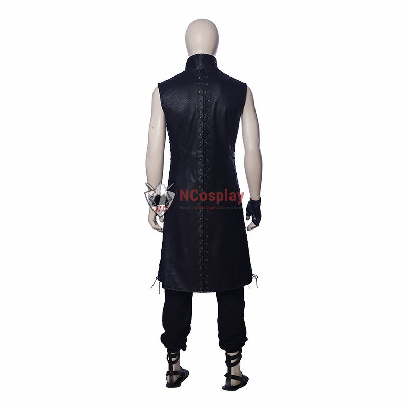 High Quality DMC5 Game Devil May Cry V Custome Sleeveless Windbreaker Jacket Cosplay Custome