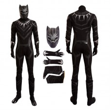 Captain America 3 Civil War Black Panther Cosplay Costume Deluxe Outfit