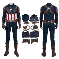 Avengers Endgame Steve Rogers Cosplay Costumes High Detail Edition