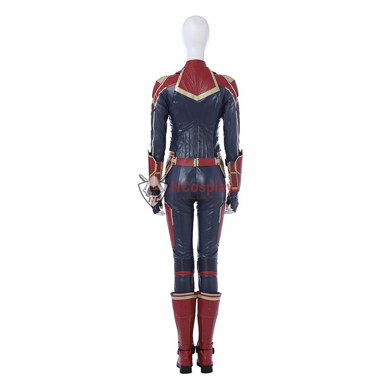 Carol Danvers Cosplay Costume Captain Bright Gold Color Marvel Costume
