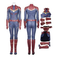Marvel 2019 Movie Captain Marvel Carol Danvers Cosplay Costume-B Edition