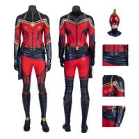 Captain Marvel Costumes Carol Danvers Cosplay Costumes Avengers Endgame Version