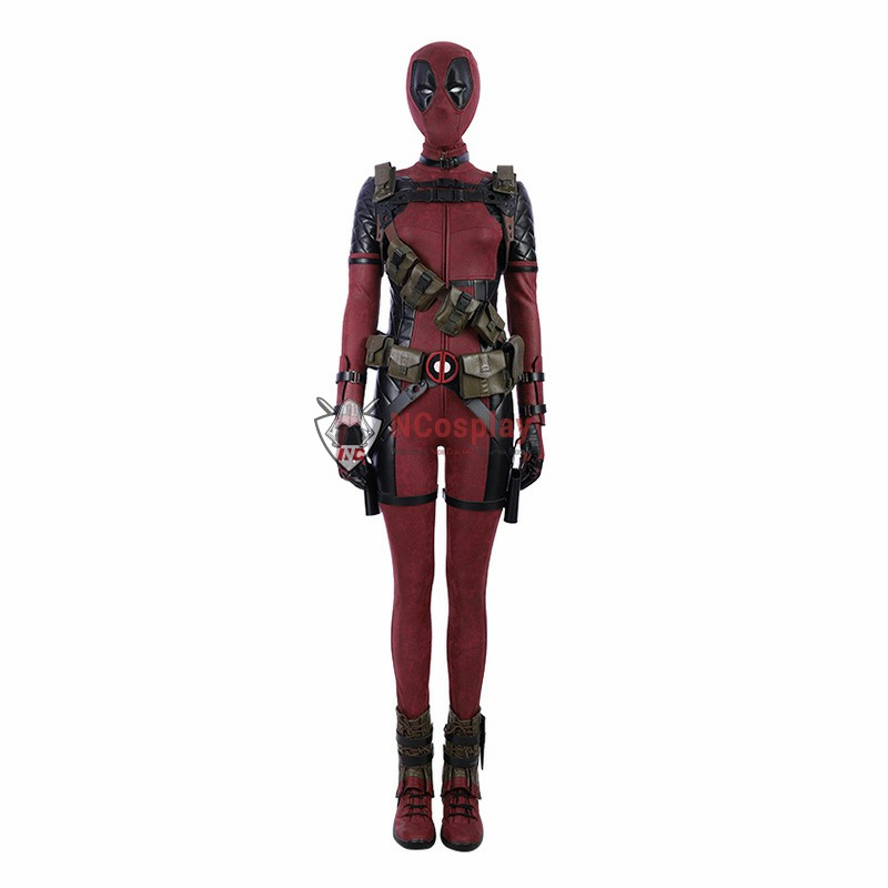 Deadpool 2 Lady Costume Woman Cosplay Costume Leather Luxury Suit