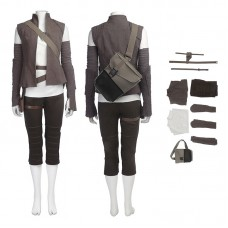 Full Set Star Wars 8 The Last Jedi Rey Cosplay Costume - New Edition