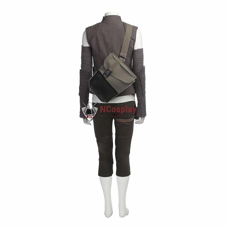 Full Set Star Wars 8 The Last Jedi Rey Cosplay Costume - New Edition