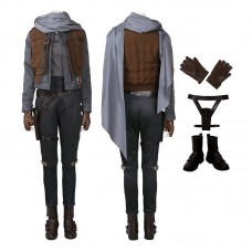 Rogue One A Star Wars Story Jyn Erso Cosplay Costume Top Level