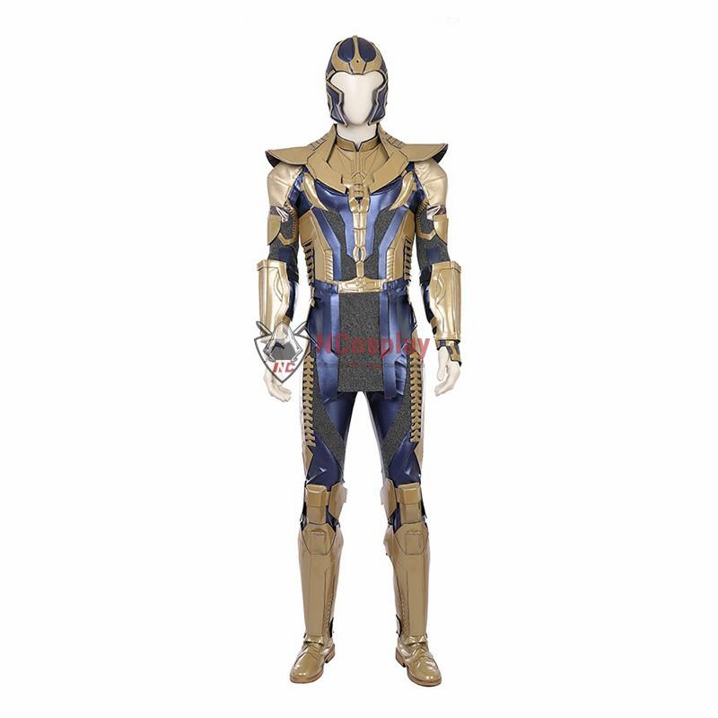 Full Set Avengers Infinity War Thanos Cosplay Costume Top Level