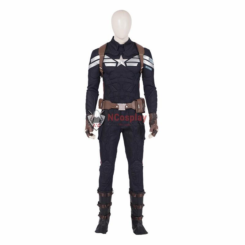 Avengers Endgame Steve Rogers Costume Captain America Cosplay Costumes