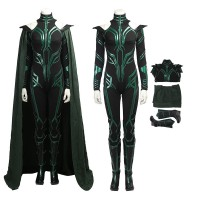 Thor Ragnarok Cosplay Hela Costume Deluxe Black Version