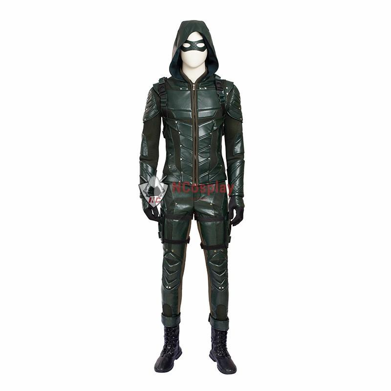 DC Green Arrow Season 5 Oliver Queen Cosplay Costume Top Level