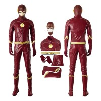 DC The Flash Season 4 Barry Allen Cosplay Costume Top Level