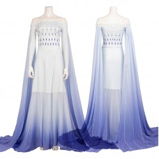 Deluxe Disney Frozen 2 Elsa White Dress Cosplay Costume
