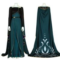 Disney Frozen 2 Anna Queen Cosplay Costume Full Set