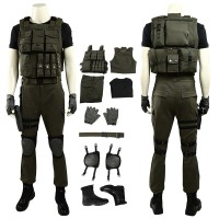 Resident Evil 3 Remake Carlos Oliveira Cosplay Costume Full Set