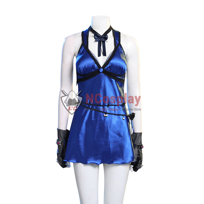 Deluxe Final Fantasy VII Remake Cosplay Costume Tifa Lockhart Blue Dress