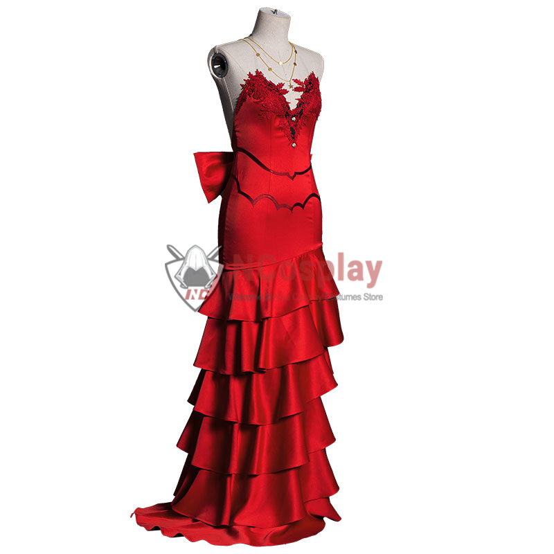 Final Fantasy VII Remake Cosplay Costume Aerith Gainsborough Red Dress