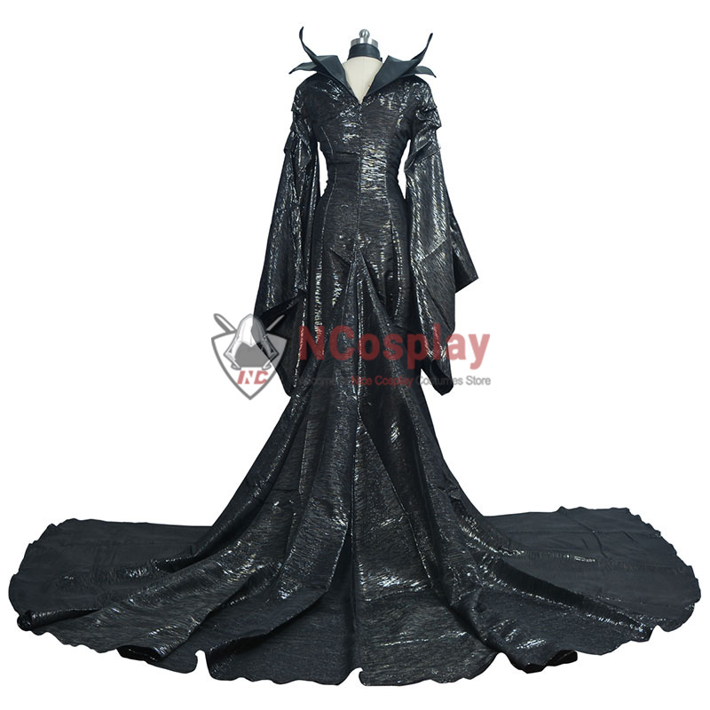 Maleficent Cosplay Costume Black Witch Angelina Jolie Outfit