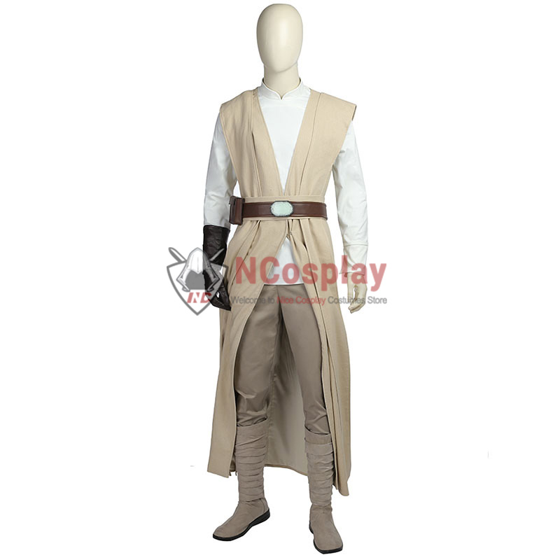 Deluxe Star Wars 8 The Last Jedi Luke Skywalker Cosplay Costume Full Set