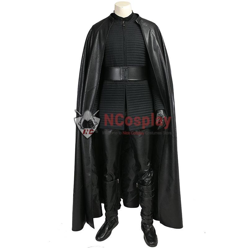 Deluxe Star Wars 8 The Last Jedi Kylo Ren Costume Cosplay Full Set