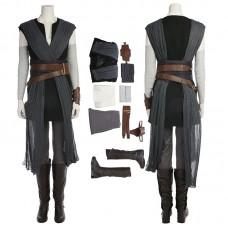 Deluxe Star Wars 8 Rey Cosplay Costume Top Level