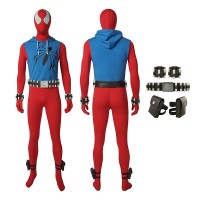 Scarlet Spider Ben Reilly Spiderman Peter Parker Cosplay Costume