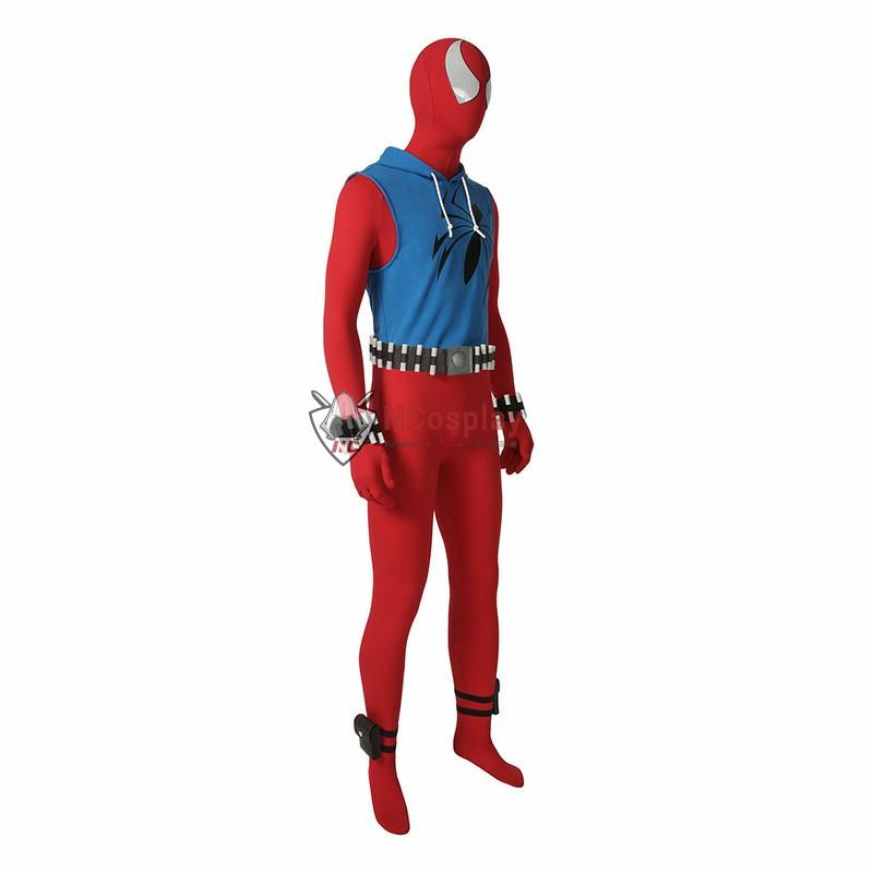 Scarlet Spider Ben Reilly Spiderman Peter Parker Cosplay Costume