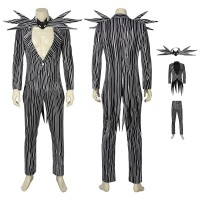 The Nightmare Before Christmas Jack Skellington Cosplay Costume Full Set