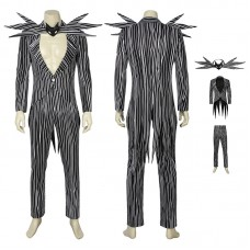 The Nightmare Before Christmas Jack Skellington Cosplay Costume Full Set