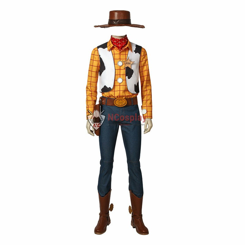 Disney Pixar Toy Story Woody Cosplay Costume Full Set