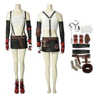 Deluxe Final Fantasy VII Remake Tifa Lockhart Cosplay Costume