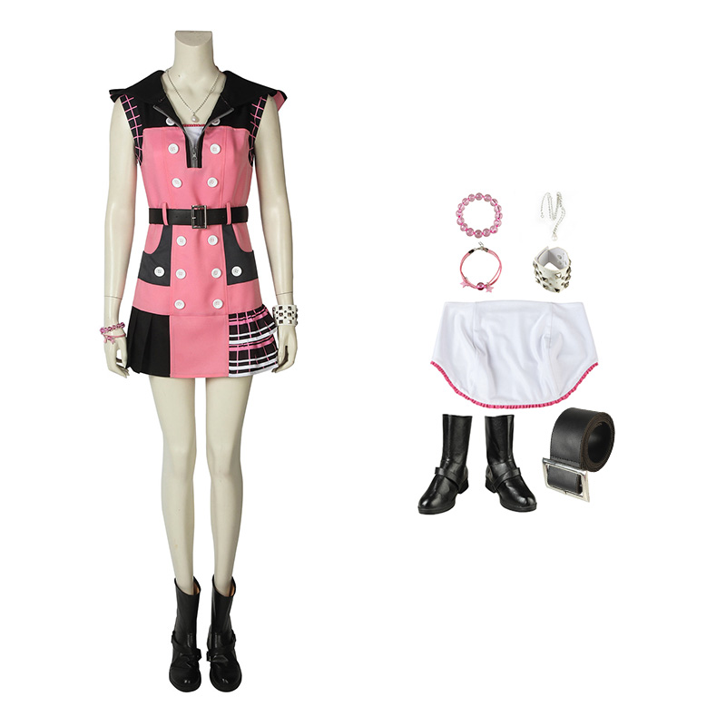 Kingdom Hearts III Kairi Cosplay Costume Full Set