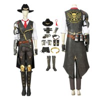 Overwatch Damage Hero Ashe Cosplay Costume Full Set