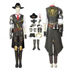 Overwatch Damage Hero Ashe Cosplay Costume Full Set