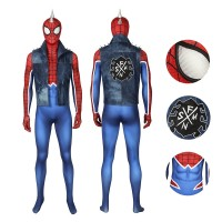 Marvel Spider Man Peter Parker Spider Punk Rock Cosplay Costume