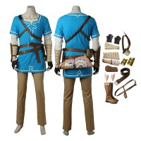 The Legend of Zelda Breath of the Wild Link Cosplay Costume Full Set