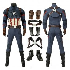 Improved Version Avengers Endgame Captain America Steven Rogers Cosplay Costume Full Set