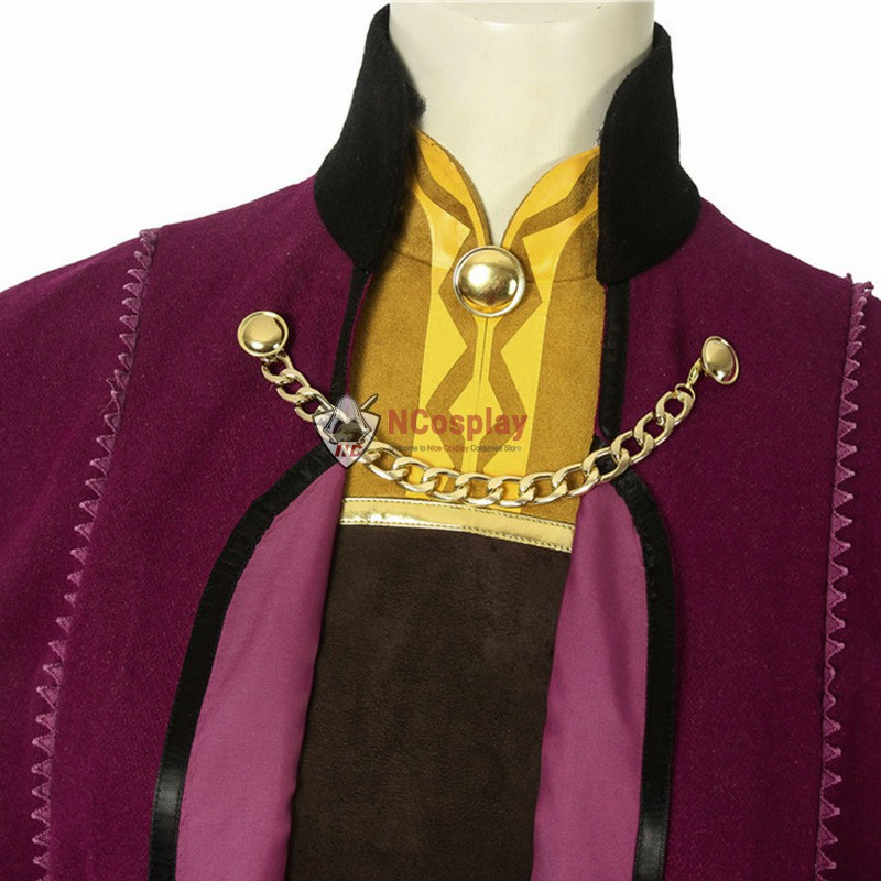 Disney Frozen 2 Anna Cosplay Costume Outfit