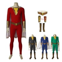 DC Superhero Shazam Family Billy Batson Cosplay Costume