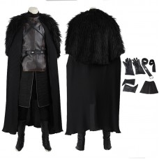 Game Of Thrones Jon Snow Cosplay Costume New Edition