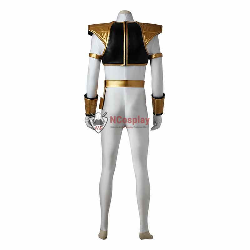 Mighty Morphin Power Rangers Tommy Oliver White Power Ranger Cosplay Costume Full Set
