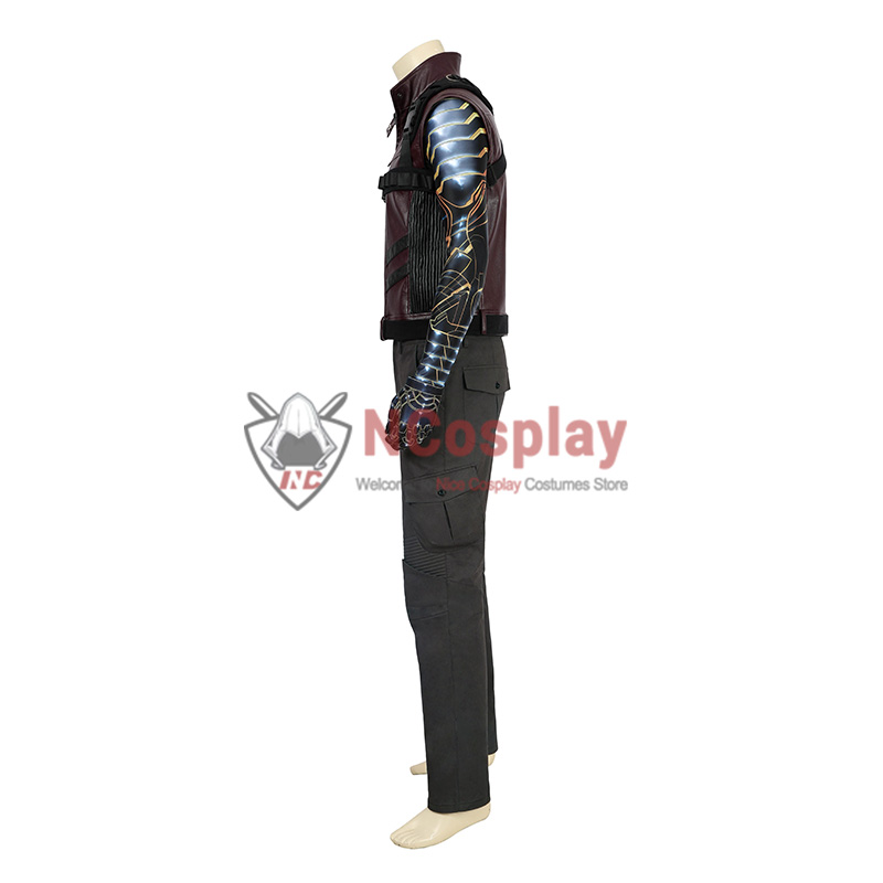 Marvel The Falcon and the Winter Soldier Bucky Barnes Cosplay Costume Full Set