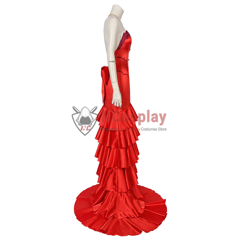 Final Fantasy VII Remake Aerith Gainsborough Red Cosplay Costume Full Set