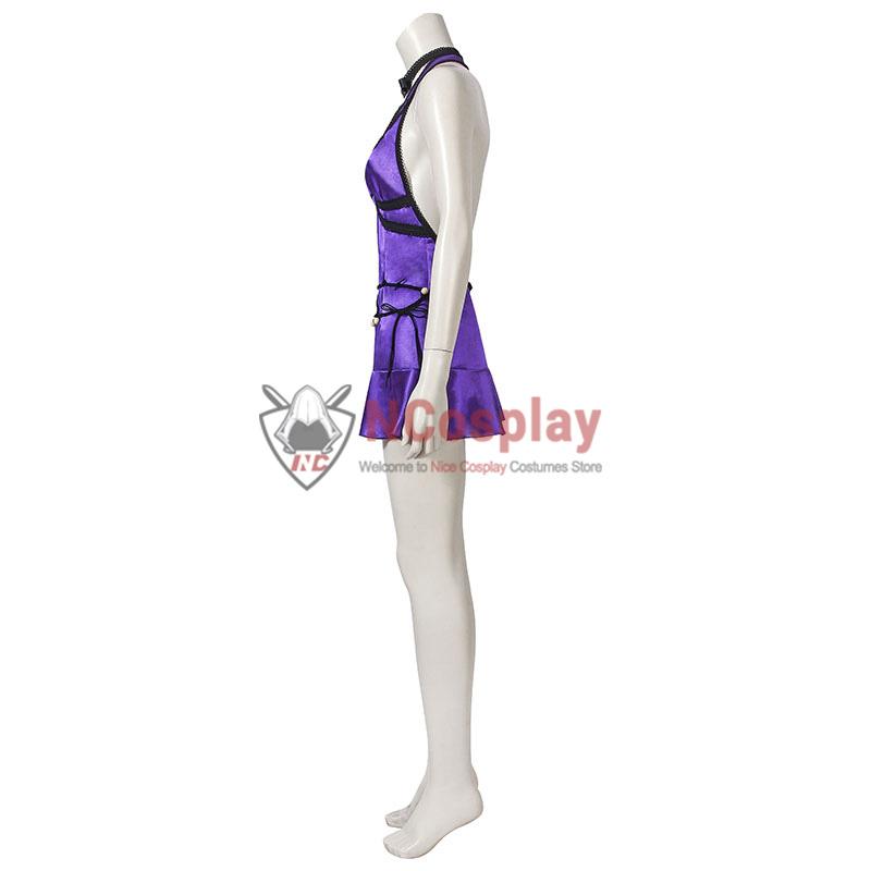 Final Fantasy VII Remake Tifa Lockhart Purple Cosplay Costume Full Set