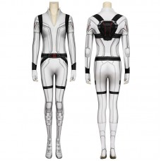 2020 Movie Black Widow Cosplay Costume Natasha Romanoff White Jumpsuit
