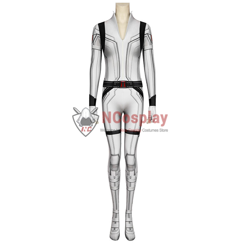 2020 Movie Black Widow Cosplay Costume Natasha Romanoff White Jumpsuit