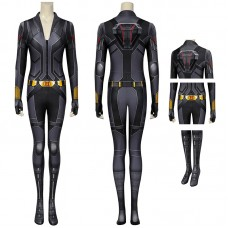 2020 Movie Black Widow Cosplay Costume Natasha Romanoff Black Jumpsuit