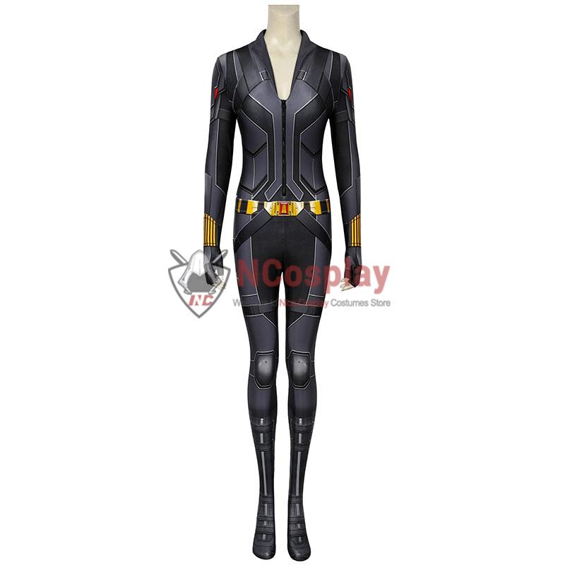 2020 Movie Black Widow Cosplay Costume Natasha Romanoff Black Jumpsuit