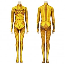 DC Wonder Woman 1984 Golden Cosplay Costume Diana Prince Jumpsuit