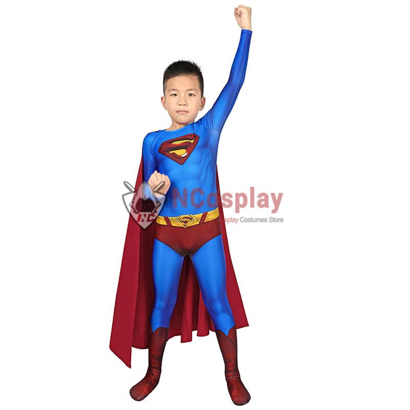 Superman Returns Superman Clark Kent Cosplay Costume Superman Jumpsuit For Kids