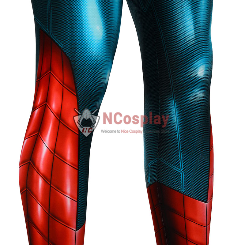 Spiderman Playstation 4 Jumpsuit Spider Man Armour MK IV Zentai Cosplay Costume